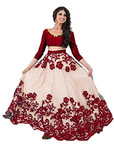 Monika fashion designer embroidered lehgha choli Black color Bangalore silk for woman...