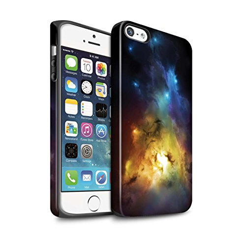 Offiziell Chris Cold Hülle / Matte Harten Stoßfest Case für Apple iPhone SE / Pack 12pcs Muster / Fremden Welt Kosmos Kollektion Arcularius Nebel