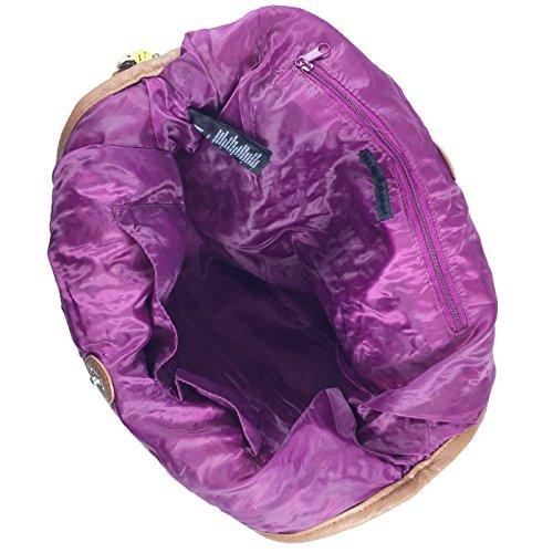 Amoyie Donne borsa tracolla maglia borsa da spiaggia borsa delle signore di paglia nappa donne Borsa a mano, Bianco e Rosso Grande, Colorato