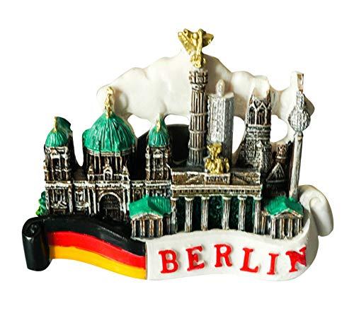 zamonji 3D Résine Réfrigérateur Aimants Magnet Frigo Autocollant en Aimant De Cuisine Home Decor Tourist Souvenir de Voyage - Berlin, Allemagne (Porte de Brandebourg, Alexanderplatz)