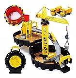 #3: RIANZ Construction Site Truck / Crane wheel garage pretend play set toy for kids