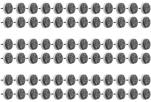 com-four® 72x Möbelgleiter aus Filz, mit Nagel, Ø 2,4 cm