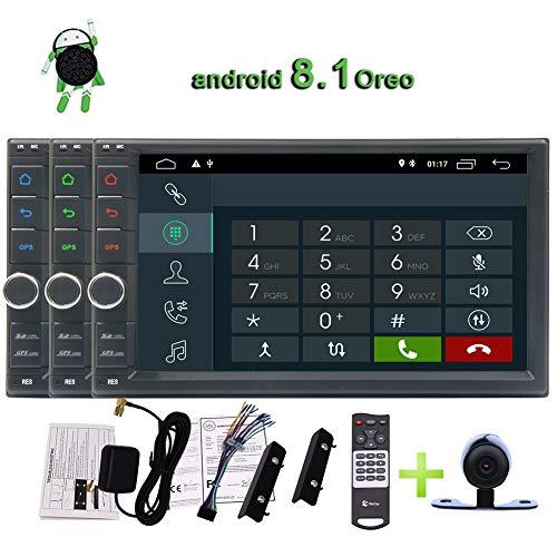 EINCAR Android 8.1 Double 2 Lärm-Auto-Stereo Head Unit Sat NAV Bluetooth Unterstützung GPS WiFi DAB + AUX Android Auto USB SD 7