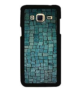 Printvisa Ultra Blue Cobbled Stone 2D Hard Polycarbonate Designer Back Case Cover for Samsung...
