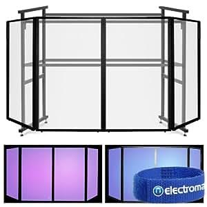 Ekho Stand EDJ4 léger de 4 Panneaux Mobile professionnel façade d'écran Cabine de DJ
