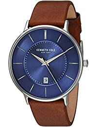 7d9c85d0aaa Kenneth Cole New York Men s Analog Quartz Watch with Leather Strap  KC15097001