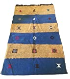 Tappeto kilim berbero marocchino arazzo etnico orientale africano originale lana