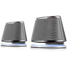 Satechi Altavoz Dual Sonic 2.0 Canales Altavoces de Ordenador para Apple Macbook Pro, Air / Asus / Acer / Samsung / Dell/ Toshiba / HP / Sony Vaio y Más (Plateados)