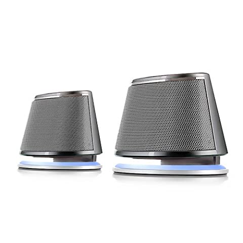 Satechi Dual Sonic Speaker 2.0 Channel Computer Speakers for Apple Macbook Pro , Air / Asus / Acer / Samsung / Dell/ Toshiba / HP / Sony Vaio and More