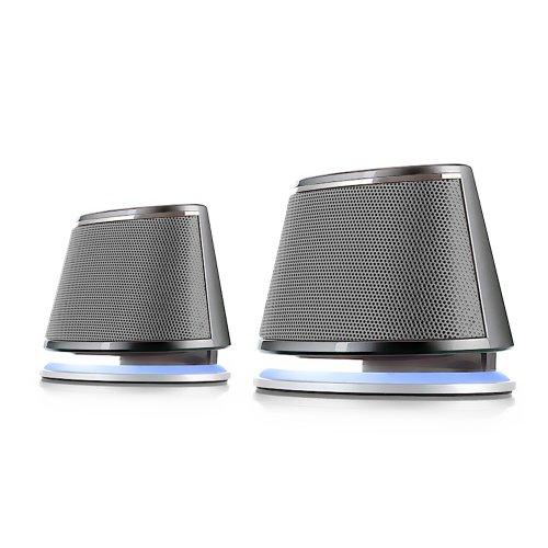 Satechi Duale Sonic Lautsprecher, 2.0 Kanal-Computerlautsprecher für Apple Macbook Pro, Air / Asus / Acer / Samsung / Dell/ Toshiba / HP / Sony Vaio und andere (Silber) Apple Lautsprecher Für Imac