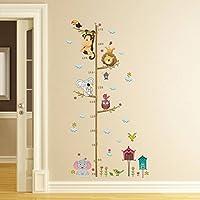 ElecMotive, adesivo da parete con metro, rimovibile, ideale per cameretta, in confezione regalo