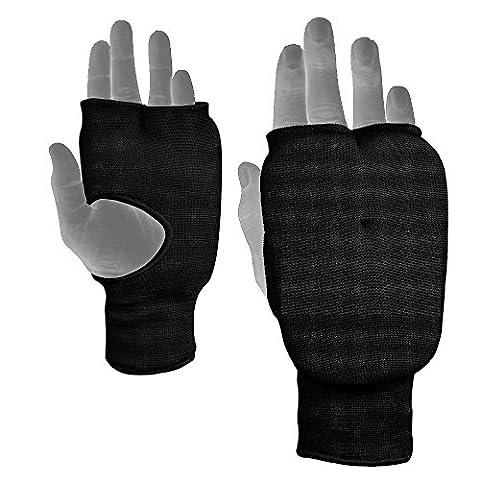 BOOM Noir Prime Arts Martiaux Boxing Inner Gloves Mousse Rembourrée Kickboxing Mitaines d'entraînement L