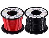 Tuofeng 14AWG, morbido e flessibile in silicone isolante filo 66piedi (10,1m nero e 10,1m rosso] matasse di filo ad alta temperatura resistenza per RC Drones applicazioni, multimetro, batteria