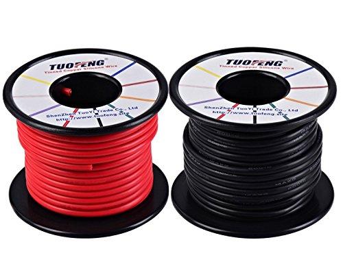 TUOFENG 14 AWG Cable, suave y flexible Cable aislado de silicona 20...