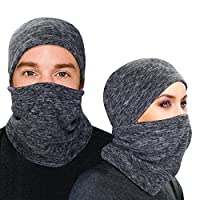 Balaclava - Windproof Ski Mask - Face Mask Motorcycle Neck Warmer or Tactical Balaclava Hood - Ultimate Thermal Retention for Skiing, Snowboarding, Motorcycling & Winter Sport (Grey, Large)