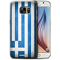 Stuff4 Hülle / Hülle für Samsung Galaxy S6/G920 / Griechenland/Griechisch Muster / Flagge Kollektion