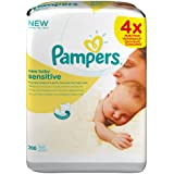 Pampers - New Baby Sensitive - Lingettes Bébé - 4 Paquets de 50 (x200 Lingettes)