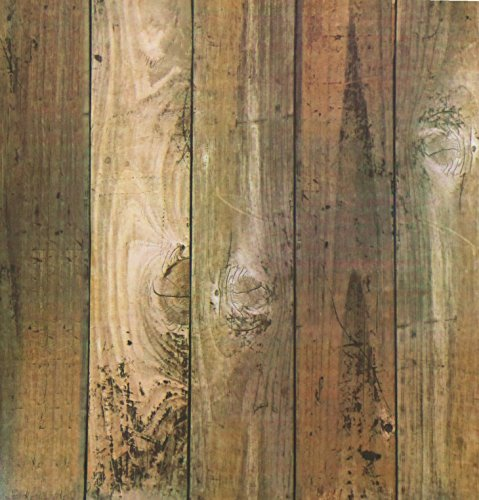 Blooming Wall 5023Peel & Stick Holz Panel Ziegelsteinwand, Holz Multicolor A5031 (Peel Und Stick Holz Wallpaper)