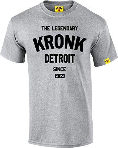 La leggendaria Kronk Detroit dal '69A Maniche Corte da Uomo T Shirt Regular Fit cotone Sport Grey M