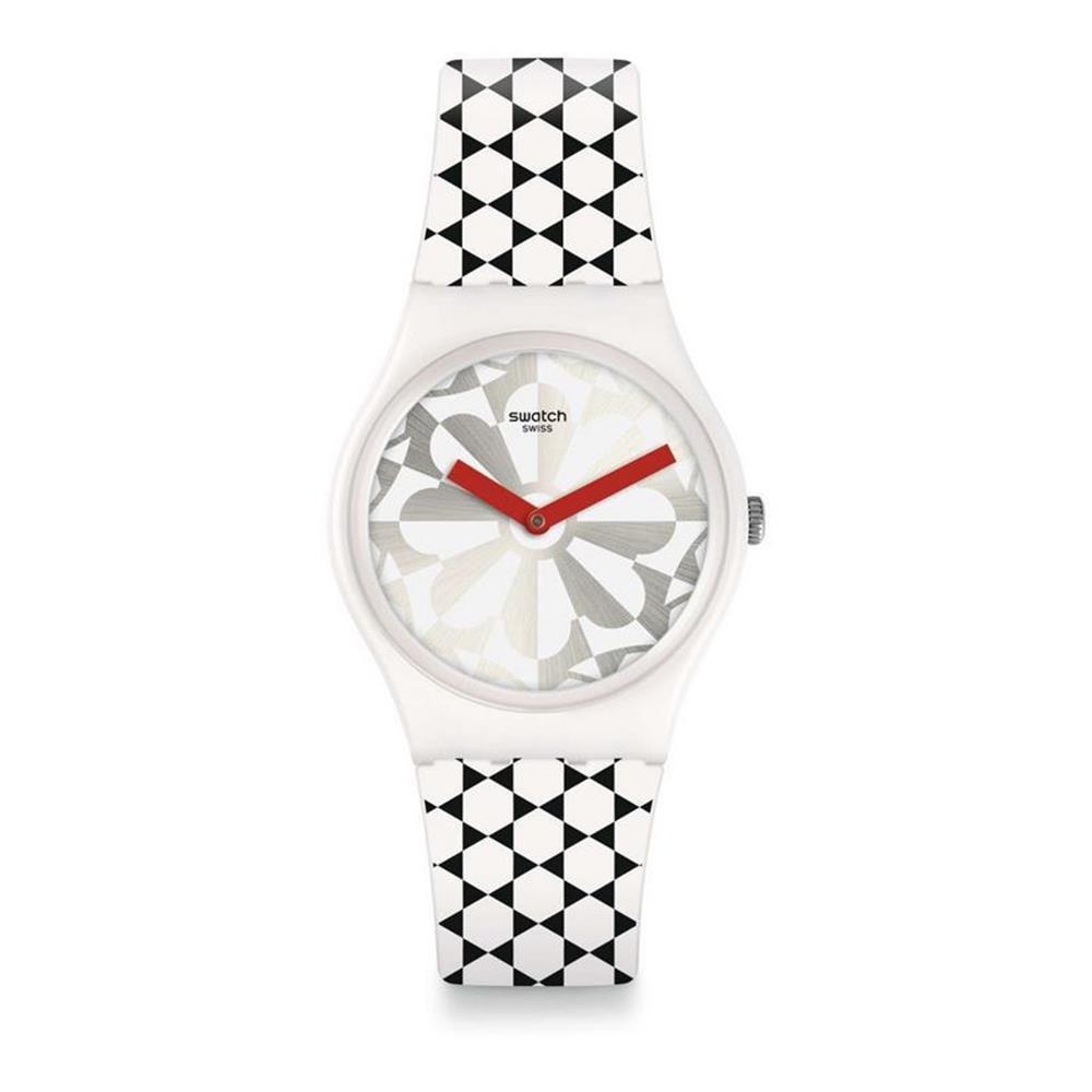 ddab7c50c215 Swatch Reloj Analogico para Unisex de Cuarzo con Correa en Silicona GW186
