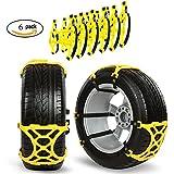 Cadenas de nieve para coche/camión/SUV, gogolo 6pcs coche anti slip Tire