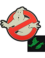 Ghostbusters No Ghost Glow Dark GITD Cosplay Movie PVC Rubber 3D Touch Fastener Patch