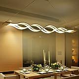 KJLARS LED Pendelleuchte, Esszimmer Wohnzimmer Küche LED-Pendelampe Moderne Metall und Acryl Hängeleuchte Hängelampe(Warm white)