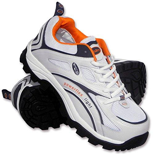Charlie Barato® Sicherheitsschuhe S1P LOG986 Weiß Unisex - Stahlkappe, durchtrittsicher, rutschhemmend, antistatisch, Action-Leder (44)