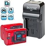 Baxxtar RAZER 600 II Ladegerät 5 in 1 + 2x BAXXTAR PRO ENERGY Akku für Canon LP-E6 (echte 2000mAh) NEUHEIT mit Micro-USB Eingang und USB-Ausgang, zum gleichzeitigen Laden eines Drittgerätes (GoPro, iPhone, Tablet, Smartphone..usw.)