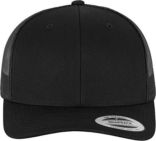 Flexfit Snapback Unisex Baseball-Mütze | Trucker Kappe Mesh Basecap, Schwarz (Black), Gr. One size