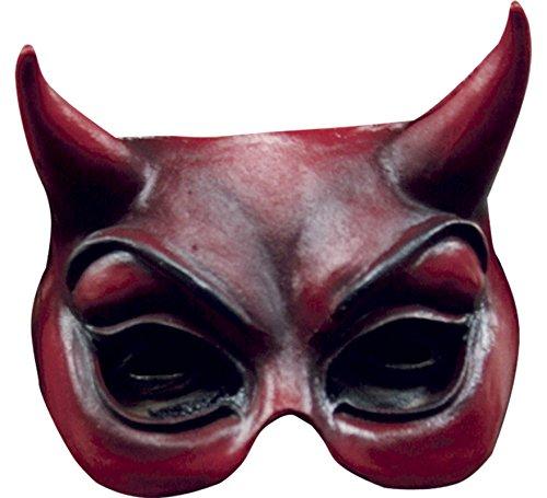 Générique generico–mahal617–mezzo maschera diavolo rosso in lattice adulto–taglia unica