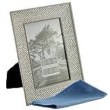Antik Vintage und Shabby Chic Stil Metall silber Foto-Rahmen mit Perlen und Kristallen in 14Styles für 10,2x 10,2cm 15,2x 10,2cm & 17,8x 12,7cm Bilder–von Sixtrees, metall, silber, 6