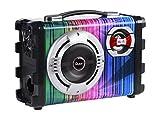 QUER KOM0836 Kleines kompatibiles Lautsprechersystem mit MP3, Bluetooth, FM Radio, Karaoke schwarz