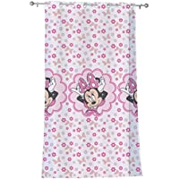 CTI Disney Minnie 043267 Stylish - Cortina con Anillas integradas, 140 x 240 cm, Color Rosa