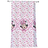 CTI Voilage A ŒILLETS 140X240 Disney Minnie Stylish Pink, 100% Polyester, Rose