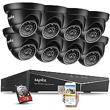 SANNCE Kit de seguridad 8 cámaras de vigilancia(H.264 Onvif P2P 16CH DVR