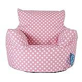 LOUNGE PUG®, Kindersessel Sitzsack, Sitzsack Kinder, Druck Pink Getupft