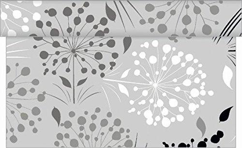 fer ERNA/Linclass® Airlaid Tischläufer 40cm x 4,80m / Einmal Tischdecken-Rolle stoffähnlich für Partys (Grau) ()