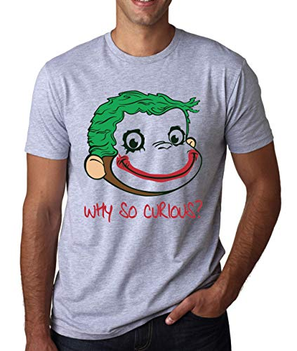 Why So Curious? Funny Monkey Herren T-Shirt ()