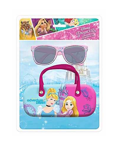 Disney - occhiali da sole + custodia con arco princess, ast1235