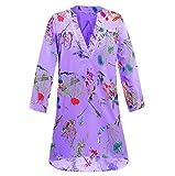 JMETRIC Damenmode lässig mit V-Ausschnitt, farbig bedrucktes Hemdoberteil 5 Farben