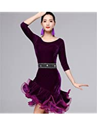 danse latine robe femmes hiver / velours chaud jupes seulement