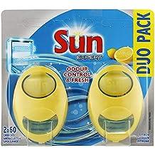 Sun Désodorisant Pour Lave-Vaisselle Expert Citron Duo Pack (Lot de 2 Désodorisants)