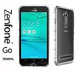 "Asus Zenfone GO (ZB500KL) Taille 5"" - Coque Housse étui silicone premium - Transparent - Air Cushion Corners (semi rigide - chocs absorption)"