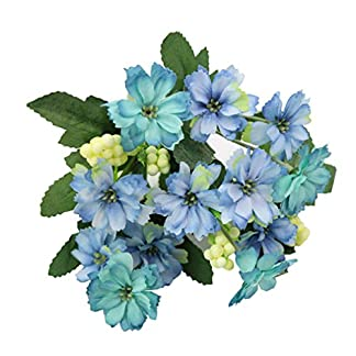 gzzebo 1 Ramo Encantador Artificial Pequeña Margarita Flor Planta Hogar Jardín Oficina Fiesta Decoración de la Boda Apoyos de la Foto