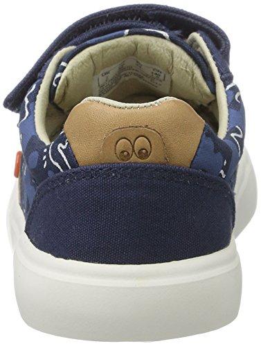 Clarks Comic Zone, Sneakers Basses Garçon Bleu (Navy)