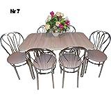 all4all Design Esstisch Küchentisch Bistrotisch Sonoma Eiche mit Chromfuß 120 x 75 + 4 Stühle