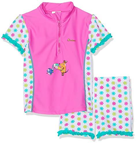 Playshoes Mädchen Badebekleidungsset UV-Schutz Bade-Set DIE MAUS Blumen Kinder Mädchen Blumen-shop
