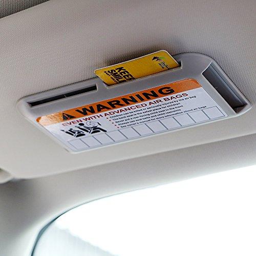 iTimo Auto Visier Clip, Automobile Organizer, Universal IC Kartenclip, Parkkarte (Grau)