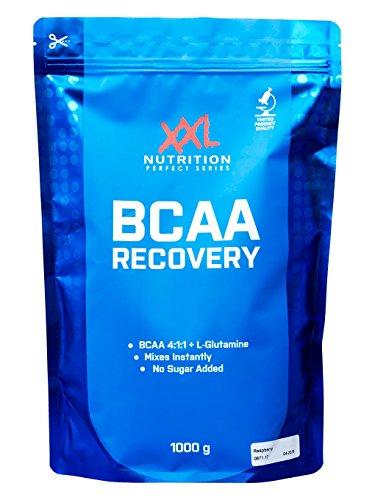 1 Recovery Himbeere (BCAA Recovery - 1000g - Leucin, Isoleucin, Valin und Glutamin! (Himbeere))
